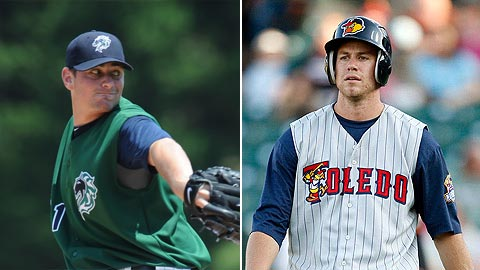 Hudson (l) leads the league with 10 wins, while Frazier ranks second with 85 hits.