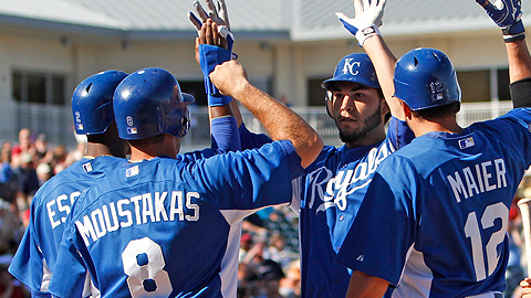 Eric Hosmer (center) and Mike Moustakas should do some damage in Omaha.