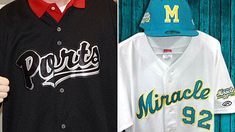 Stockton's uniforms honor Johnny Cash, while Fort Myers are just 1990s throwbacks.