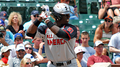 Anthony Alford went 1-for-4 in his second game with the GCL Blue Jays.